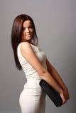 Rapariga bonita no vestido curto Fotos de Stock