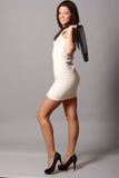 Rapariga bonita no vestido curto Imagens de Stock
