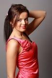 Rapariga bonita no vestido curto Imagem de Stock