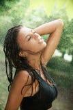 Chuva do verão Imagens de Stock