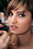 Rapariga bonita que faz a composição Imagens de Stock Royalty Free