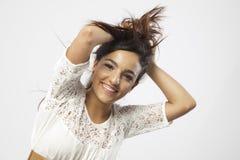 Rapariga bonita real Imagens de Stock