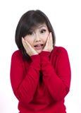 Rapariga bonita surpreendida Imagens de Stock Royalty Free