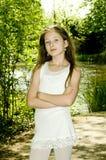 Rapariga bonito no parque Imagem de Stock