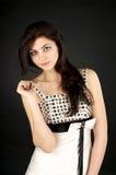 Rapariga bonito no vestido de noite Fotos de Stock Royalty Free