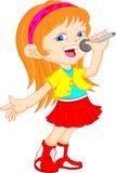 Rapariga bonito que canta Fotografia de Stock Royalty Free