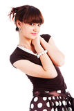 Rapariga charming doce na blusa Fotografia de Stock Royalty Free