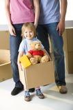 Rapariga com brinquedos Fotografia de Stock Royalty Free