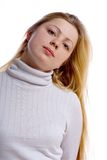 Rapariga com cabelo longo imagem de stock royalty free