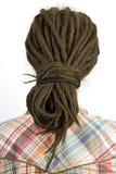Rapariga com cabelo no dreadlocks imagem de stock royalty free