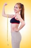 Rapariga com centímetro Imagem de Stock
