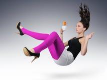 Rapariga com chávena de café Imagens de Stock