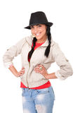 Rapariga com chapéu de cowboy Imagem de Stock