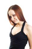 Rapariga com expressão do destreza Fotos de Stock