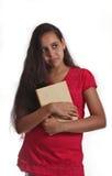 Rapariga com livro Imagens de Stock