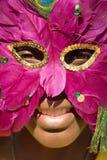 Rapariga com máscara Imagem de Stock