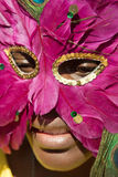 Rapariga com máscara Fotografia de Stock