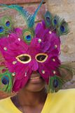 Rapariga com máscara Fotografia de Stock Royalty Free