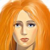 Rapariga com olhos azuis tristes Fotos de Stock Royalty Free