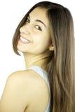 Rapariga com sorriso lindo do cabelo Foto de Stock