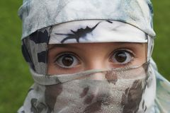 Rapariga com um véu Fotografia de Stock Royalty Free