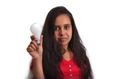 Rapariga com uma idéia Imagem de Stock