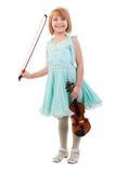 Rapariga com violino. imagens de stock