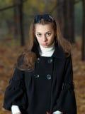 Rapariga da beleza com emoção querendo saber. Fotos de Stock