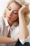 Rapariga da tristeza Imagem de Stock Royalty Free
