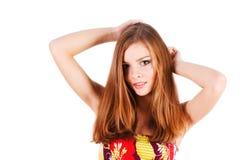 Rapariga de fascínio bonita Fotografia de Stock Royalty Free