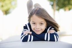 Rapariga de sorriso fotografia de stock