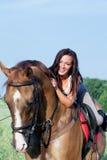 Rapariga e cavalo Imagem de Stock Royalty Free