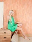 Rapariga em casa imagens de stock royalty free