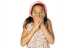 Rapariga em choque Foto de Stock Royalty Free