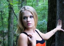 Rapariga em um parque Fotos de Stock Royalty Free
