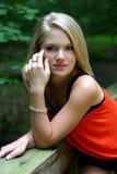 Rapariga em um parque Foto de Stock