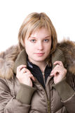 A rapariga em um revestimento Fotografia de Stock Royalty Free
