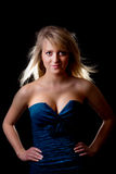 Rapariga em um vestido do baile de finalistas Imagens de Stock