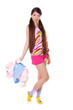 Rapariga encantadora com um brinquedo Imagens de Stock