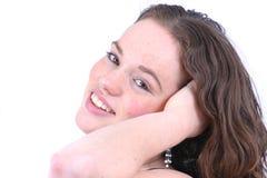 Rapariga feliz Fotos de Stock