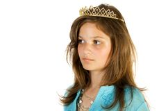 A rapariga gosta da princesa Fotografia de Stock Royalty Free