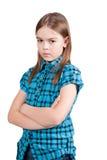 Rapariga irritada Fotografia de Stock Royalty Free