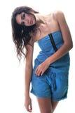 Rapariga isolada no branco fotografia de stock royalty free