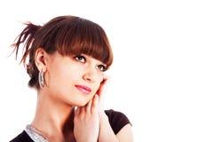 Rapariga modesta bonita Foto de Stock
