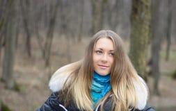 Rapariga na madeira Imagem de Stock Royalty Free