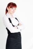Rapariga na roupa do negócio fotografia de stock