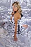 Rapariga no branco Fotos de Stock Royalty Free