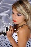 Rapariga no branco Imagem de Stock Royalty Free