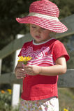 Rapariga no chapéu cor-de-rosa Imagem de Stock Royalty Free