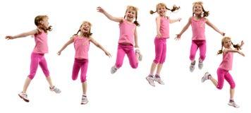 Rapariga no pano cor-de-rosa Imagem de Stock Royalty Free